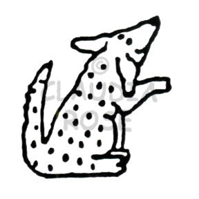 Claudia Rose | CR619F - Dotty Dog - Rubber Art Stamp