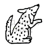 Dotty Dog Rubber Art Stamp