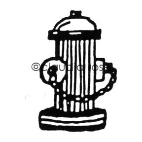Claudia Rose | CR622F - Fire Hydrant (large) - Rubber Art Stamp