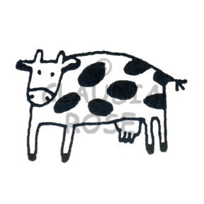 Lena the Cow Rubber Art Stamp