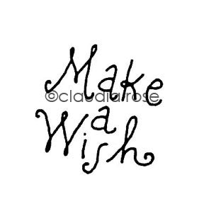 Claudia Rose | CR803D - Make a Wish - Rubber Art Stamp