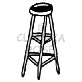 Bar Stool - CR902D - Rubber Art Stamp