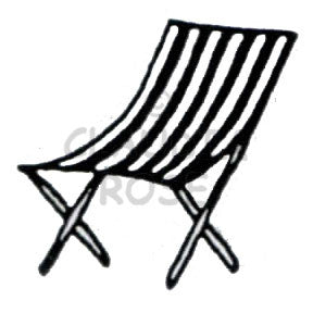 Beach Chair - CR903D - Rubber Art Stamp