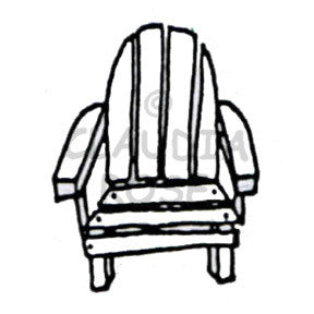Adirondack Chair - CR909D - Rubber Art Stamp