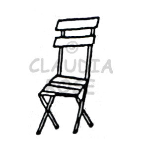 Claudia Rose | CR910D - Park Chair - Rubber Art Stamp