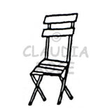 Park Chair - CR910D - Rubber Art Stamp