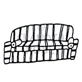 Claudia Rose | CR911E - Striped Sofa - Rubber Art Stamp