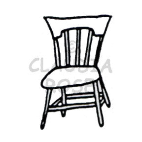 Claudia Rose | CR912D - Kitchen Chair - Rubber Art Stamp