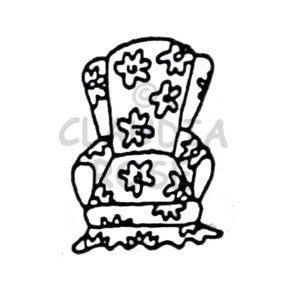 Claudia Rose | CR913D - Chintz Chair - Rubber Art Stamp