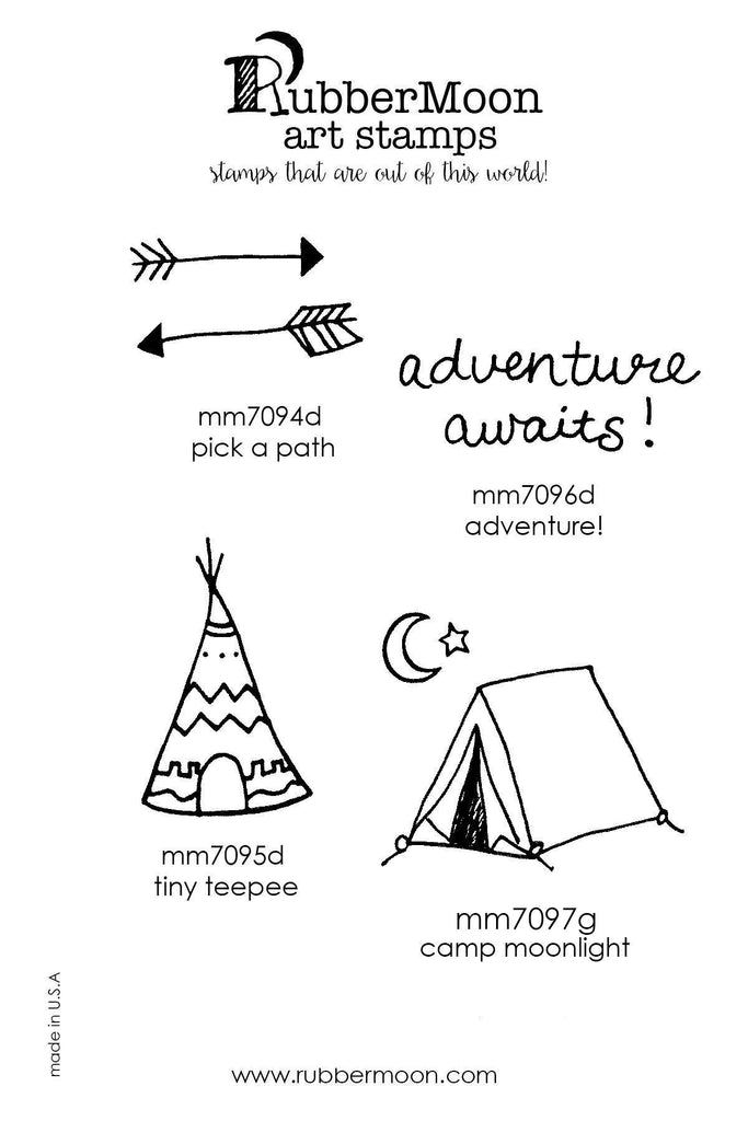 Maxi Moon | MMAA04 | Adventure Awaits Stamp Set