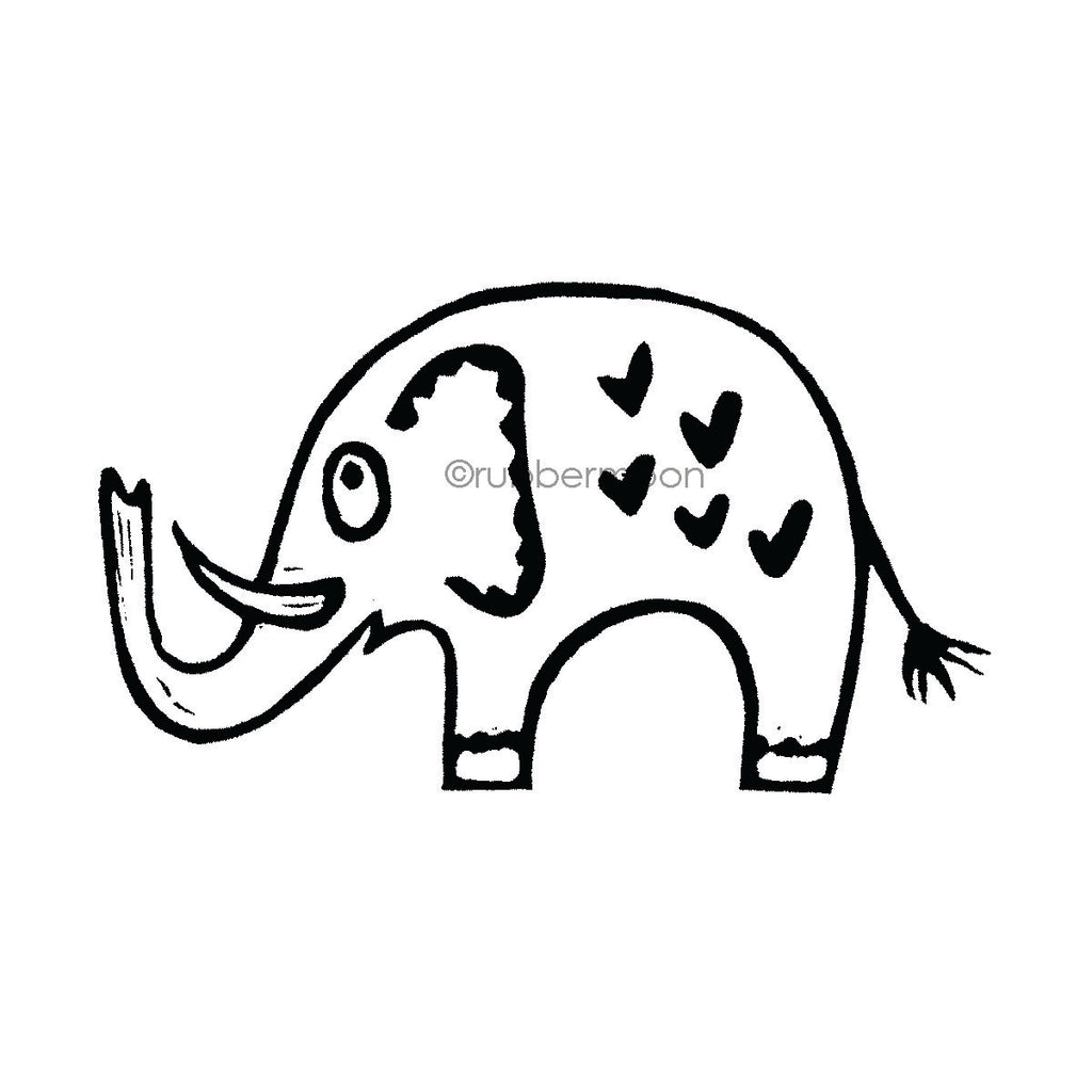 Donna Gray | DG7497H - Elliot Elephant - Rubber Art Stamp
