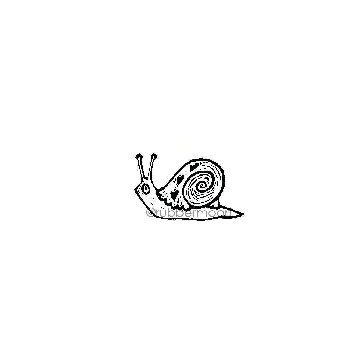 Donna Gray | DG7499D - Susie Snail - Rubber Art Stamp