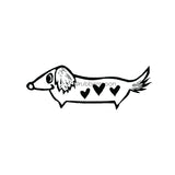 Donna Gray | DG7501G - Dottie Doxie - Rubber Art Stamp