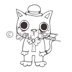 Emi Boz | EB5377G - Fraidy Cat - Rubber Art Stamp