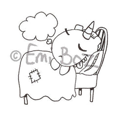 Emi Boz | EB5379G - Sweet Dreams Chubbles - Rubber Art Stamp