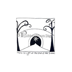 Light at the End of the Tunnel - EG105DG - Digi Stamp