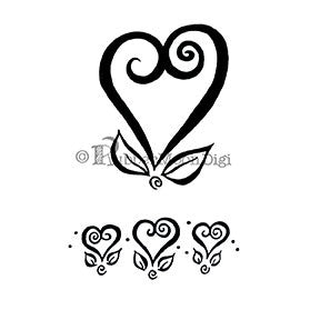 Curly Heart Set - EG118DG - Digi Stamp
