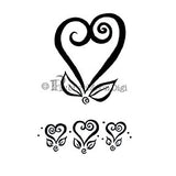 Effie Glitzfinger | EG118DG - Curly Heart Set - Digi Stamp