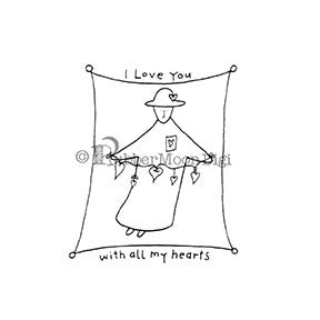Effie Glitzfinger | EG137DG - All My Hearts - Digi Stamp