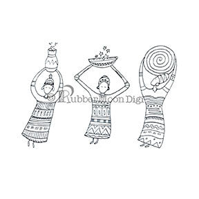 Effie Glitzfinger | EG142DG - Three Goddesses Set - Digi Stamp
