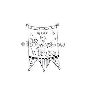 Make Lots of Wishes - EG153DG - Digi Stamp