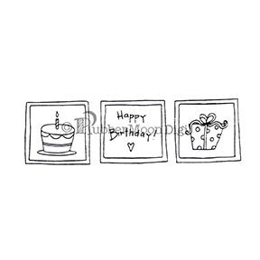 Three Squares Birthday - EG165DG - Digi Stamp