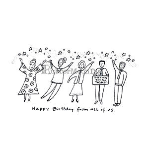 Happy Birthday From Us - EG166DG - Digi Stamp