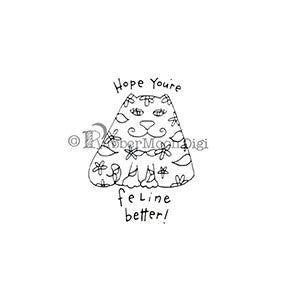 Hope You're Feline Better - EG180DG - Digi Stamp
