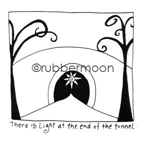 Light at the End of the Tunnel - EG5552F - Rubber Art Stamp