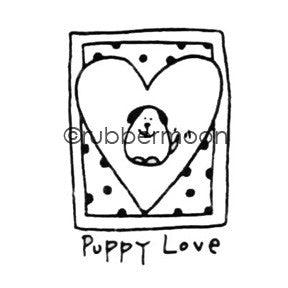 Puppy Love - EG5554C - Rubber Art Stamp