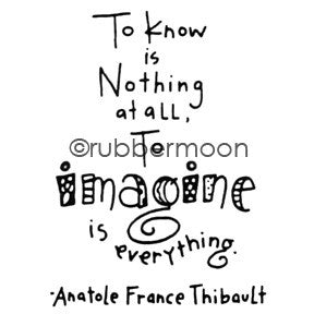 To Imagine... - EG5556F - Rubber Art Stamp