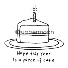 Effie Glitzfinger | EG5561E - Hope This Year is a Piece of Cake - Rubber Art Stamp