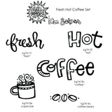 Kim Geiser | KGFHC05 - Fresh Hot Coffee Set - Rubber Art Stamps