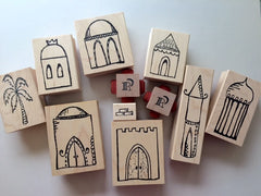Build a Villa | Complete Set (11 Art Stamps) - BAV1 - Rubber Art Stamps