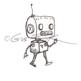 Gus Fink | GF5355E - Bitty Bot - Rubber Art Stamp