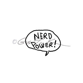 "Gus Fink | GF7119C - ""Nerd Power"" - Rubber Art Stamp"