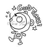 Gus Fink | GF7124H - Good Times Boogily - Rubber Art Stamp