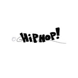 "Gus Fink | GF7128D - ""Hip Hop"" - Rubber Art Stamp"