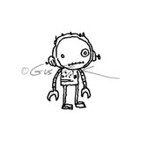 Gus Fink | GF7137D - Bot Boy - Rubber Art Stamp