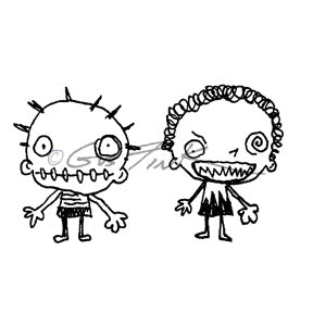 Gus Fink | GF7139G - Crazed & Dazed - Rubber Art Stamp