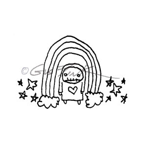 Gus Fink | GF7142G - Under the Weather - Rubber Art Stamp