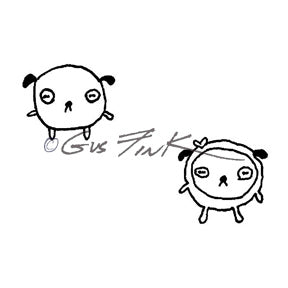 Gus Fink | GF7151G - Puffs in Love (Set of 2) - Rubber Art Stamps