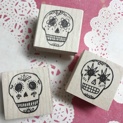 Kae Pea | Bone Doddies | Rubber Art Stamp (Set of 3)