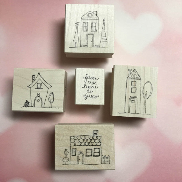 From Our Home to Yours | HOME01 | Rubber Art Stamps (Set of 5)