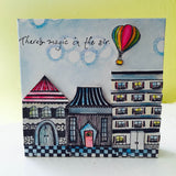 Nancy Curry | NC5285G - Home Is Where The Stripes Are - Rubber Art Stamp
