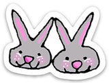 Limited Edition Bunny Slippers Sticker