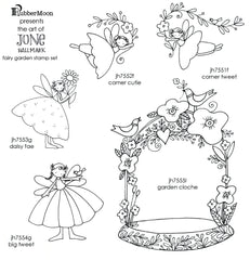 Jone Hallmark | JH05FG - Fairy Garden Stamp Set - Rubber Art Stamps