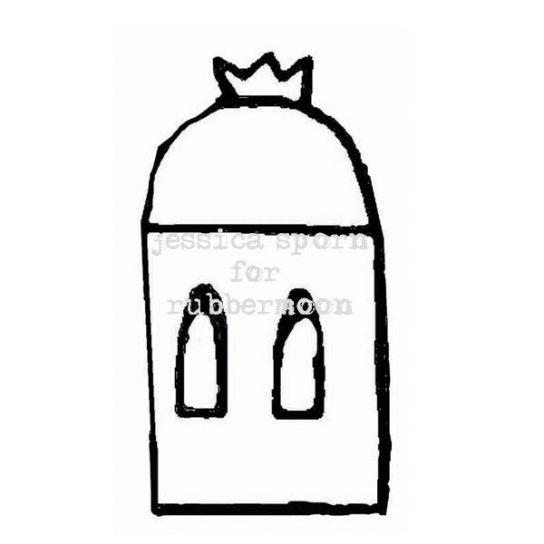 Jessica Sporn | JS5364F - Crown Top Dome - Rubber Art Stamp