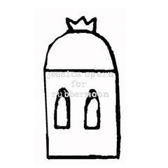 Build a Villa | Crown Top Dome - JS5364F - Rubber Art Stamp