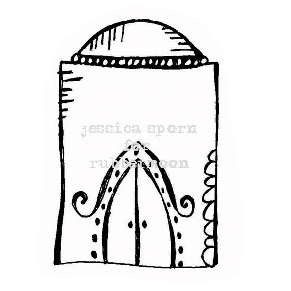 Jessica Sporn | JS5367G - Doodle Dome - Rubber Art Stamp